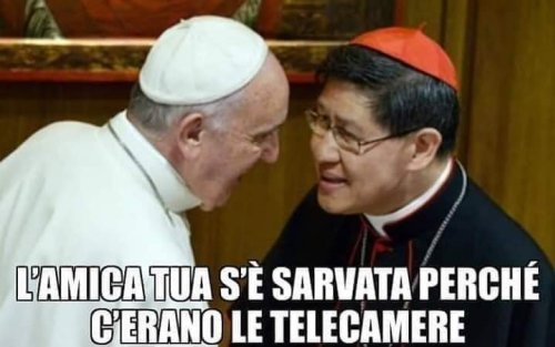 schiaffo del papa